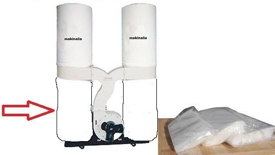 Paquete 10 sacos aspirador plastico 550 cm