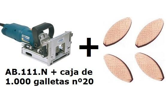 Fresadora ensambladora Virutex AB111N+Galletas