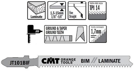 5 Hojas sierra caladora JT101B