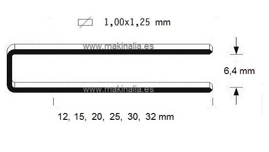 Grapas 92x32mm 5.000 unid.