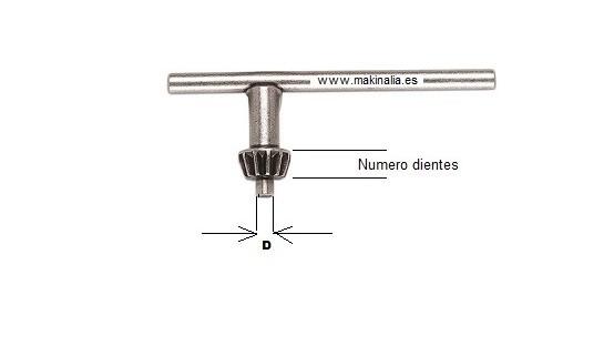 llave portabrocas S1