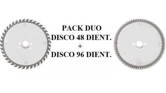 Duo sierras de 300 de 48 y 96 dientes
