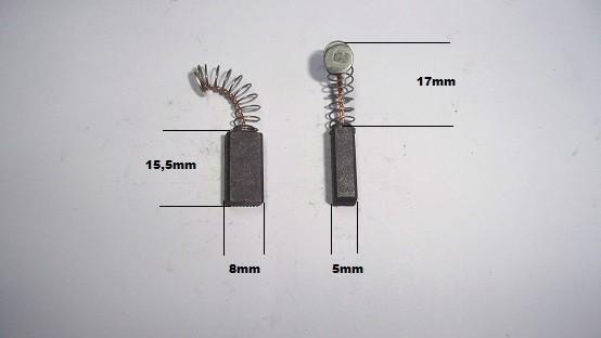 Escobillas Bosch taladro lijadora sierra fresadora cepillo roscadora