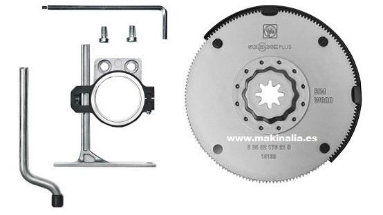 Set disco sierra multimaster 100 mm y tope