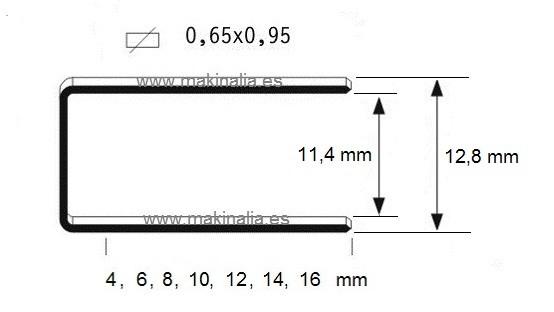 Grapas 80x16mm 5.000 unid.