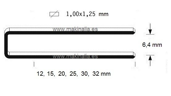 Grapas 92x15mm 10.000 unid.