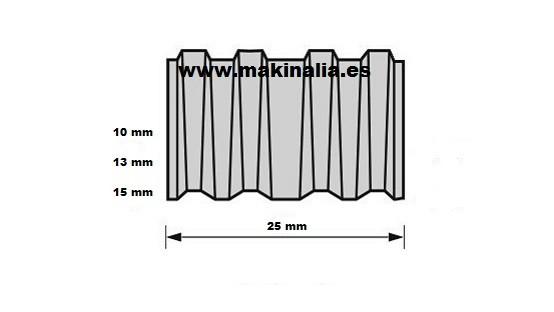Grapa corrugada CF 10 mm