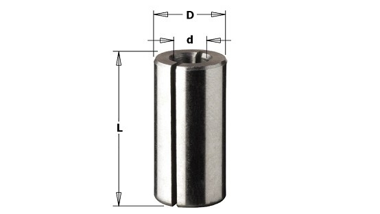 Reductor mango fresa 6,35 a 8 mm