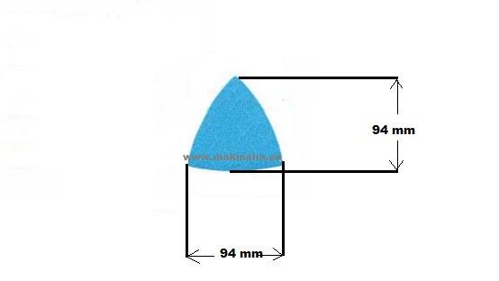 Lija delta triangular grano 40 velcro